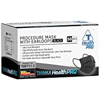 THINKA PROCEDURE MASK WITH EARLOOPS (50pcs) - [BLACK] - Medical mask, ASTM L1 Approved Face Mask