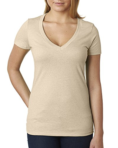 Next Level Baby Rib Knit Deep V-Neck T-Shirt, CREAM, ()