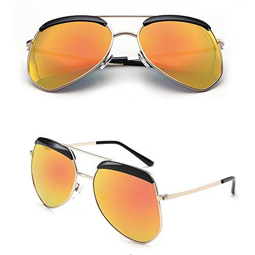 Gafas sol la de de personalidad la sol la Gafas la Gafas moda la de protección de de sol de polarizada lib ZHIRONG luz 05 la al aire de alta viaje de de definición de sol irregular de pareja las gafas de EqAfwwxS