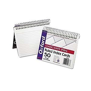 ESS40283 - OXFORD SPIRAL INDEX CARDS 4X6 WHITE
