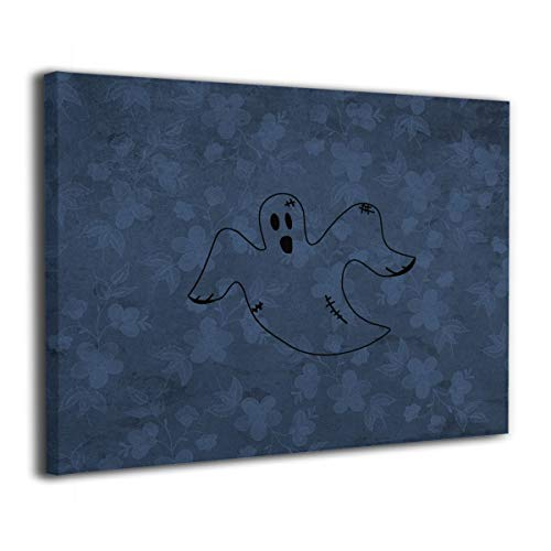 Lisawand Black and White Clipart Halloween Painting Stretched and Framed Canvas Wall Art Canvas Prints Wall Picture Easy to Hang for Living Room Office Decor 20