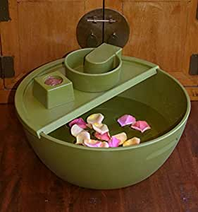 Eco-Friendly Pedicure Bowl Daintree Green with Footrest