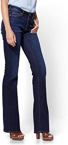 New York & Co. Women's Soho Jeans - Curvy Bootcut - Blue Tease Wash - Petite