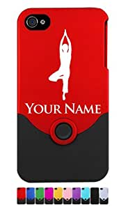 Personalized Case/Cover for iPhone 4/4S - YOGA WOMAN - Laser Engraved for Free