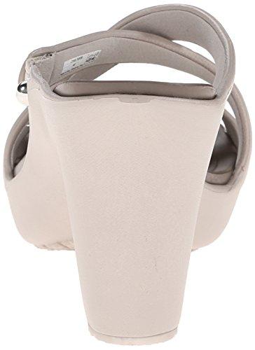 Crocs Cyprus IV Heel W - Zapatos de vestir de sintético para mujer Grigio (Platinum/Pewter)