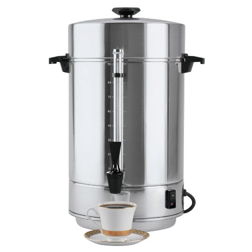Commercial Coffee Maker (West Bend 58001R Commercial Aluminum Coffeemaker with Non-Drip Spigot, 100-Cup (Discontinued by Manufacturer))