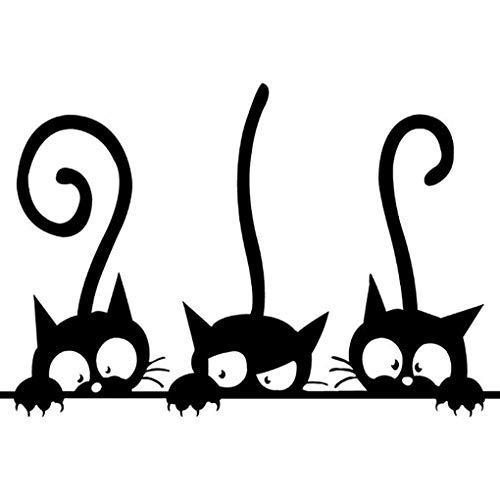 Boger Adhesive Cute Cartoon Cat Wall Stickers Bedroom Livingroom Wall Decals Home Wall DIY Decors by Boger (Image #6)