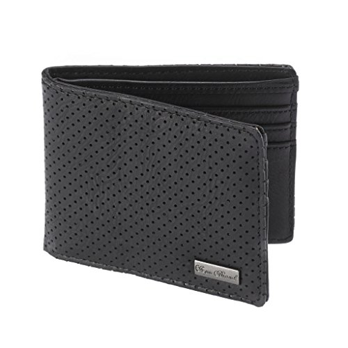 Icon Brand TRIPLE BS BI-FOLD Perforated Wallet, Black