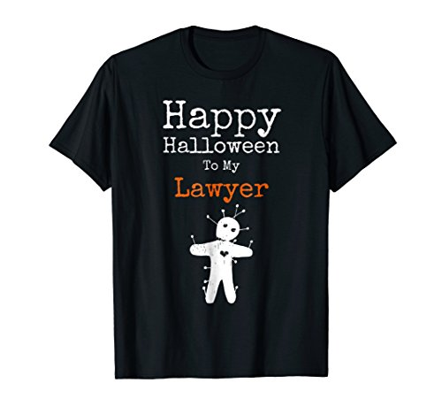 Funny Halloween Voodoo To My Lawyer Distressed T Shirt -