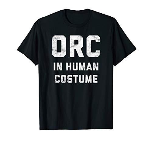 Orc in Human Costume Halloween Gamer Shirt