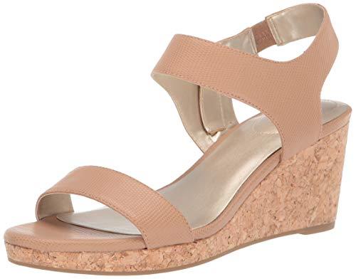 Bandolino Womens Tessa Wedge Sandal Maple Lizard 6 -