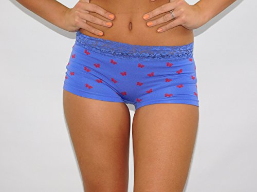 Mujer Diseño De Mariposa Knickers con encaje Hot Pants hombre talla única UK 8–�?2 Purple & Pink