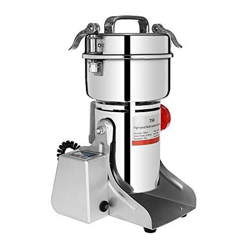 Marada 750g Pulverizer Grinding Machine Stainless Steel 25000 r/min Pulverizer Machine for Kitchen Herb Spice Pepper Coffee Powder Grinder (750g)  by Marada (Image #2)