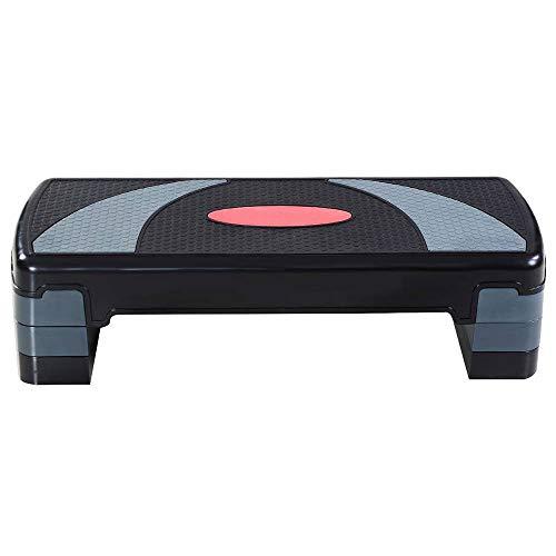 QXKMZ Steps Original Aerobic Platform 80 X 30 X 20Cm, Gym Aerobics Tray Suitable for Family Exercise Step Training Course Gym Home Aerobics Gymnastics Fitness Board, Foot Support Black and Gra by QXKMZ