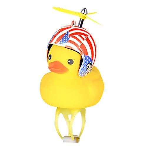 MA87 Cartoon Yellow Little Duck Shape Bicycle Bell Shining Mountain Bike Head Light (D)