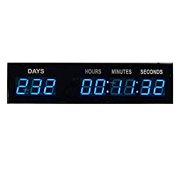 Blue 1.8 9Digits Large LED Countdown Count Up Days Clock With Wireless Remote by BTBSIGN