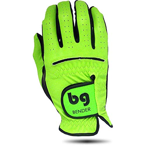 - Men's Synthetic Golf Glove for Left Handed Golfers (Worn on Right Hand) (Lime Green, Large)