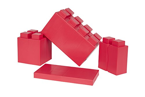 EverBlock Modular Building Blocks Combo Pack, Red, 29 Block