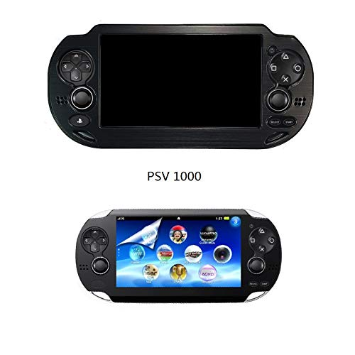 Hard Case Cover Plus 1 PCS of LCD Screen Protector for Sony Playstation PS VITA 1000 PSV PCH-1000 (Aluminum CASE + Clear LCD Screen Protector) (Black) (Playstation One Lcd Screen)