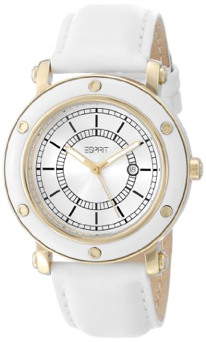 ESPRIT Women's ES104042005 Deco Gold White Classic Fashion - Esprit Watch Women Gold