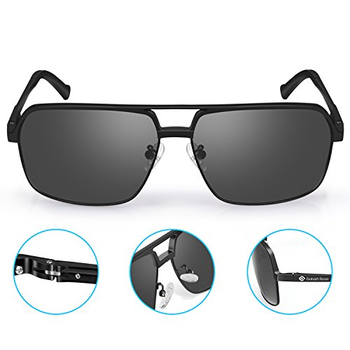 Goliath Ronin Polarized Sunglasses for Women Men, Lightweight Rectangle Sunglasses for Cycling Sports Driving Traval - Aviator Face Sunglasses Square For