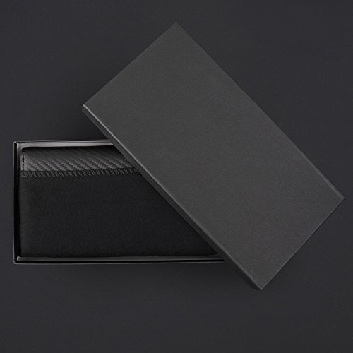 Italy carbon pockets Incredible inner from with Japan zipper carbon makes gift mens cards very wallet light natural safety papers cash original and sides leather it for in made g5qf58