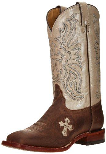 scan Goat TC1001L Western Boot,Tan,9.5 B US (Tony Lama Cowgirl Boots)