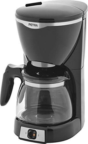 Petra Electric KM 601.07 Cafetera de filtro con jarra de vidrio, 10-12 tazas de café, 1000 W, 1.25 litros, Negro, Plata: Amazon.es: Hogar