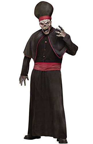 [Mememall Fashion Zombie High Priest Robe Adult Halloween Costume] (Priest Halloween Costume Deluxe)