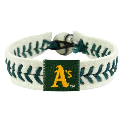 Bracelet Gamewear (GameWear 4421403103 Oakland Athletics Genuine Baseball Bracelet)