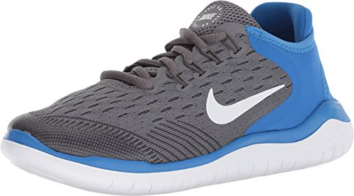 Nike Free Rn 2018 Big Kids Style : AH3451-005,Gunsmoke/White-signal Blue,6 (Shoes Nike Free Kids)