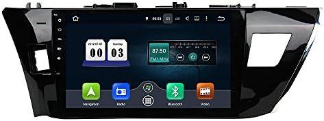 KUNFINE Android 9.0 8核自動車GPSナビゲーション マルチメディアプレーヤー 自動車音響 トヨタ カローラ TOYOTA COROLLA 2014 2015 Left 自動車ラジオハンドル制御WiFiブルースティスト