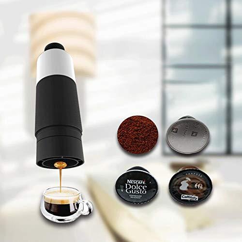 LIGHT Máquina de café Espresso portátil, Mini cafetera,para Acampar, Viajes/Oficina