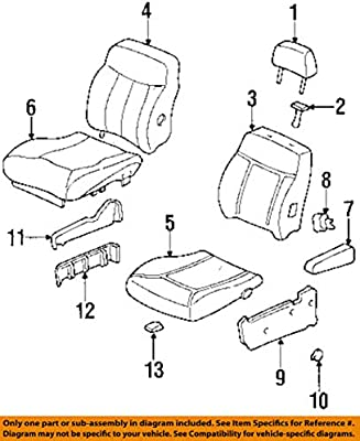 Honda Genuine 81131-SX0-A01ZC Seat Cushion Trim Cover Front