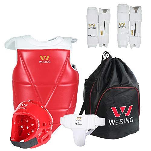 wesing Sports WTF Taekwondo Sparring Competition Gear Set Taekwondo Equipment