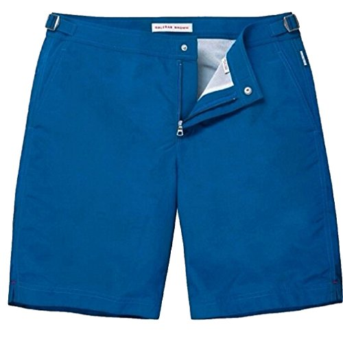 Orlebar Brown Men's Dane II Swim Trunks (Pacific Blue) - - Brown Orlebar And