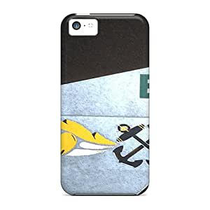 Iphone 5c Hard Back With Bumper Silicone Gel Tpu Case Cover Eeeh Uss Wasp