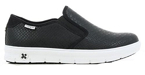 Oxypas Nuova Moda Scarpa Professionale Comoda Sneaker In Pelle Selina Antistatica (esd) In Molti Colori Nero