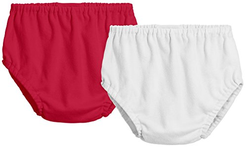 In Boys Panties (City Threads 2-Pack Baby Girls' and Baby Boys' Unisex Diaper Covers Bloomers Soft Cotton, Apple Red/White, Newborn)
