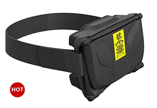 Pakway 3D VR Virtual Reality Glasses Ultralight Headset with W Adjustable Head Band Strap for 4.5 - 6.0 Inch Smartphones