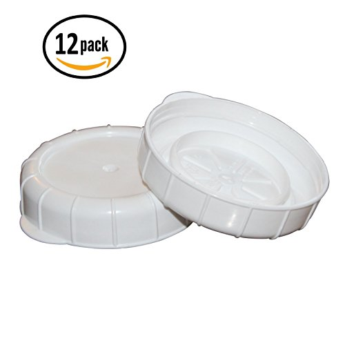 Glass Milk Bottle Caps - 12 Pack - 48mm (1.89 inch) Snap On Lids (48 Mm Plastic Cap)