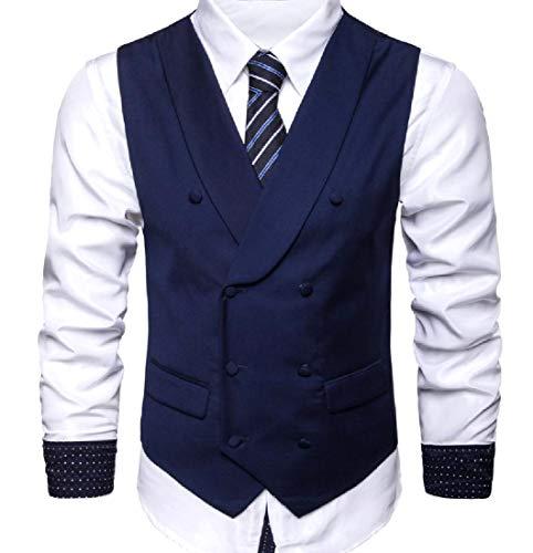 Coolred-Men Easy Care Slim Casual Shawl Collar Bridal Dress Vest 5 3XL