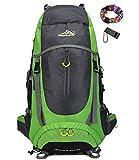 Ticktock Ong 70L Travel Backpack Trekking Hiking Mountaineering Climbing Camping Rucksack for Men Women (Green)