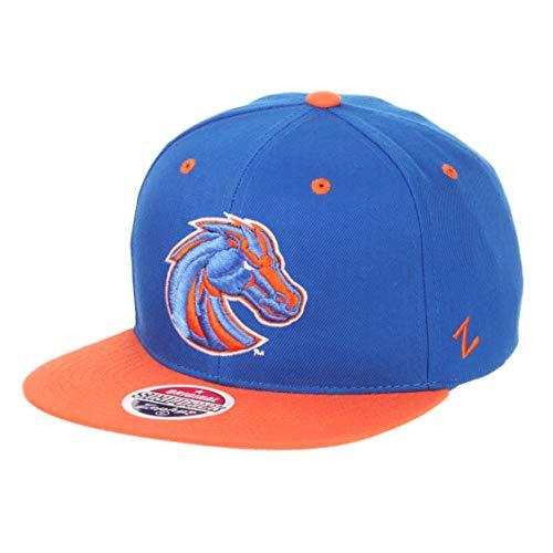 Boise State Broncos 2-Tone Z11 Adjustable Snapback Cap - NCAA Flat Bill Zephyr Baseball Hat - State Hats Boise Broncos
