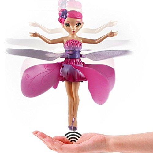 Weirui 2017 Flying Fairy Doll Hand Infrared Induction Control Dolls Child Fly Toy Gift (Pink)