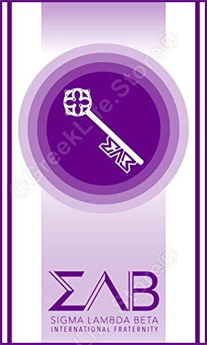 Sigma Lambda Beta Officially Licensed Computer Tablet Decal Sticker 3x5 ()