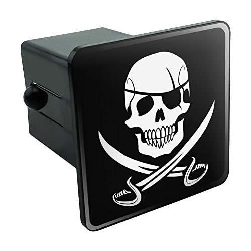 Pirate Skull Crossed Swords Jolly Roger Tow Trailer Hitch Cover Plug Insert 2