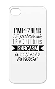 White Shockproof Funny Teen Wolf Jokes Stiles Stilinski Sarcasm Funny TPU Case Cover For Iphone 5/5s Sarcasm by icecream design