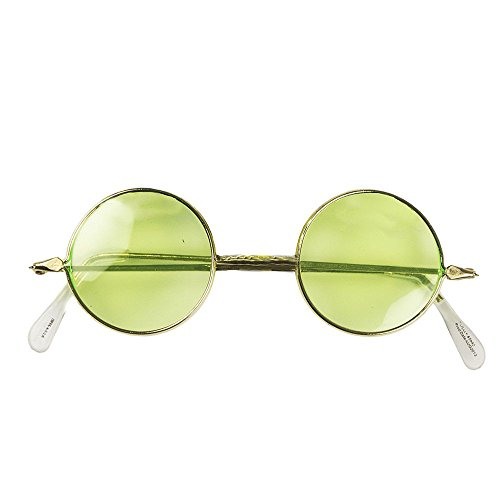 Costumes With Best Halloween Glasses (Amscan Groovin '60S Costume Party Hippie Glasses (Pack Of 1), Gold, One)