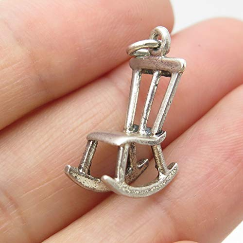 Signed Vintage 925 Sterling Silver Rocking Chair Small Charm by Wholesale Charms